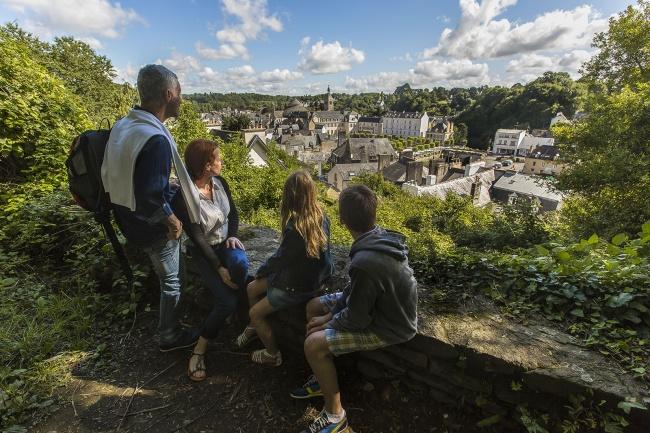 Vue panoramique sur le coeur historique de Quimper