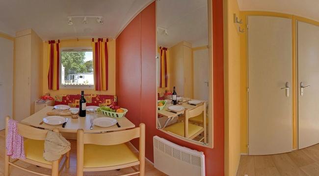 Lodge 4 personnes - 24 m² - le séjour