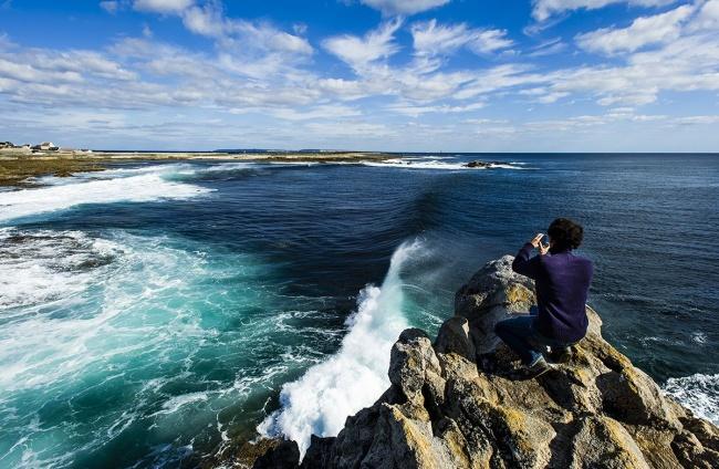 Vacances à l'île de Sein - Prise de vue du littoral