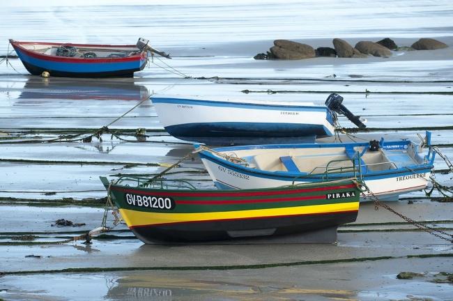 Tourisme Finistère - bateaux à l'échouage