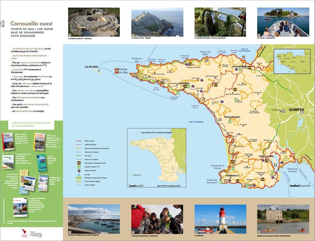 Incontournables - Carte Touristique de Cornouaille Ouest