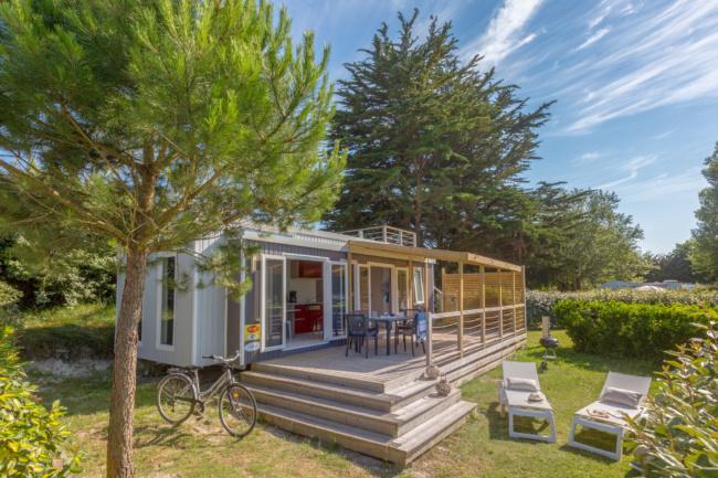 Lodge panoramique premium 4 personnes - la terrase