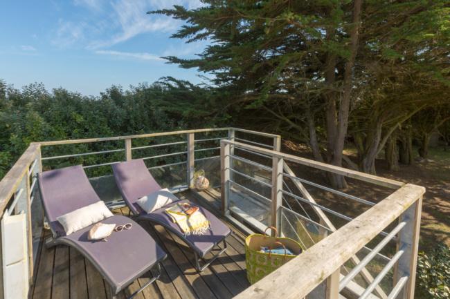 Lodge panoramique premium 4 personnes - bains de soleil