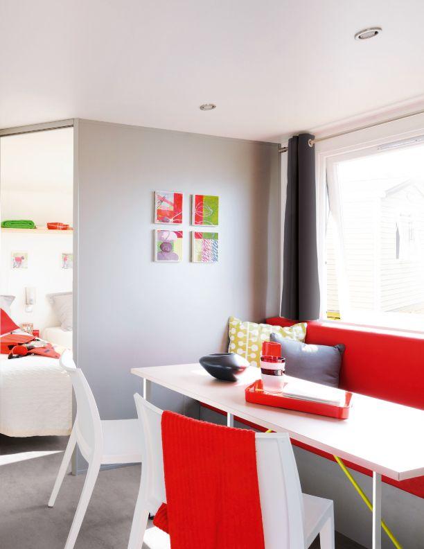 Lodge 4 personnes 26 m² - espace de vie