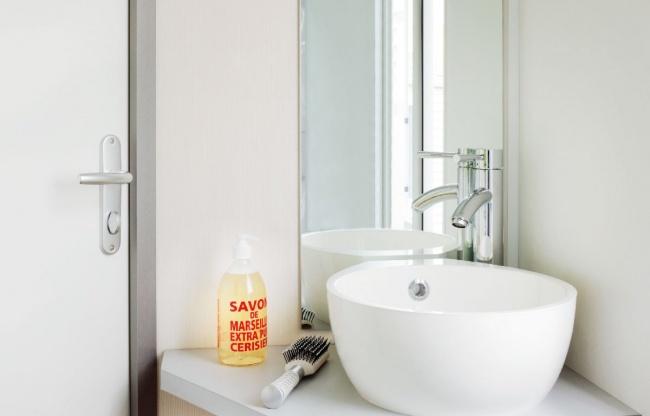 Lodge 4 personnes 26 m² - salle de bain