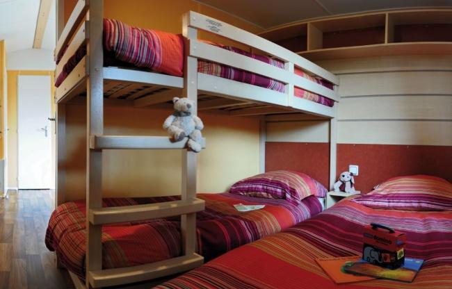 lodge 4 personnes 28m² - chambre enfants