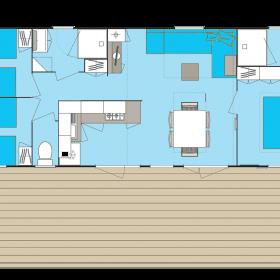 Cottage 6 personnes 2 SDB plan
