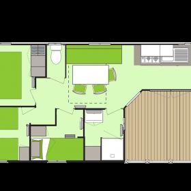 Cottage Dunes 5-6 personnes - plan intérieur