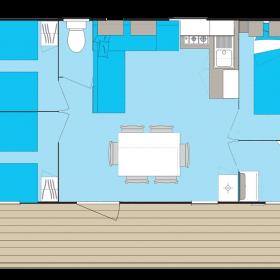 Cottage 6 personnes 32 m² - plan