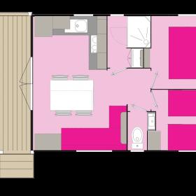 Cottage Bay 4 personnes - plan intérieur
