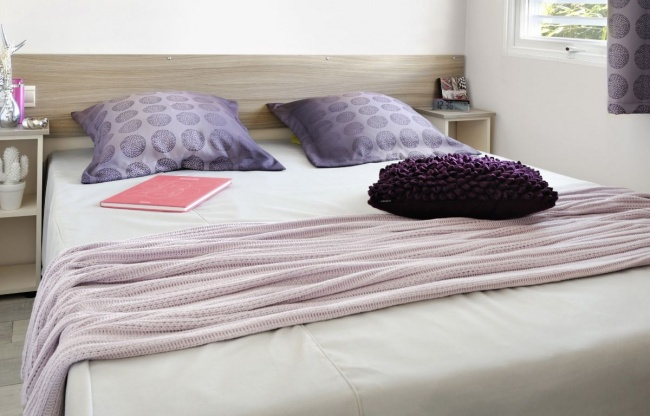 Lodge panoramique premium 4 personnes - chambre parentale