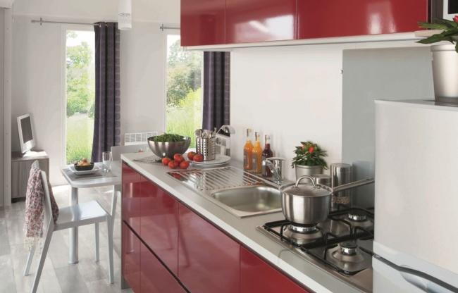 Lodge panoramique premium 4 personnes - cuisine équipée