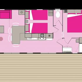 Lodge panoramique premium 4 personnes - plan intérieur