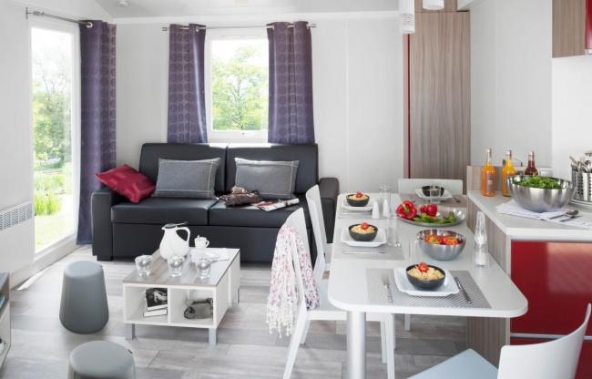 Lodge panoramique premium 4 personnes - le séjour