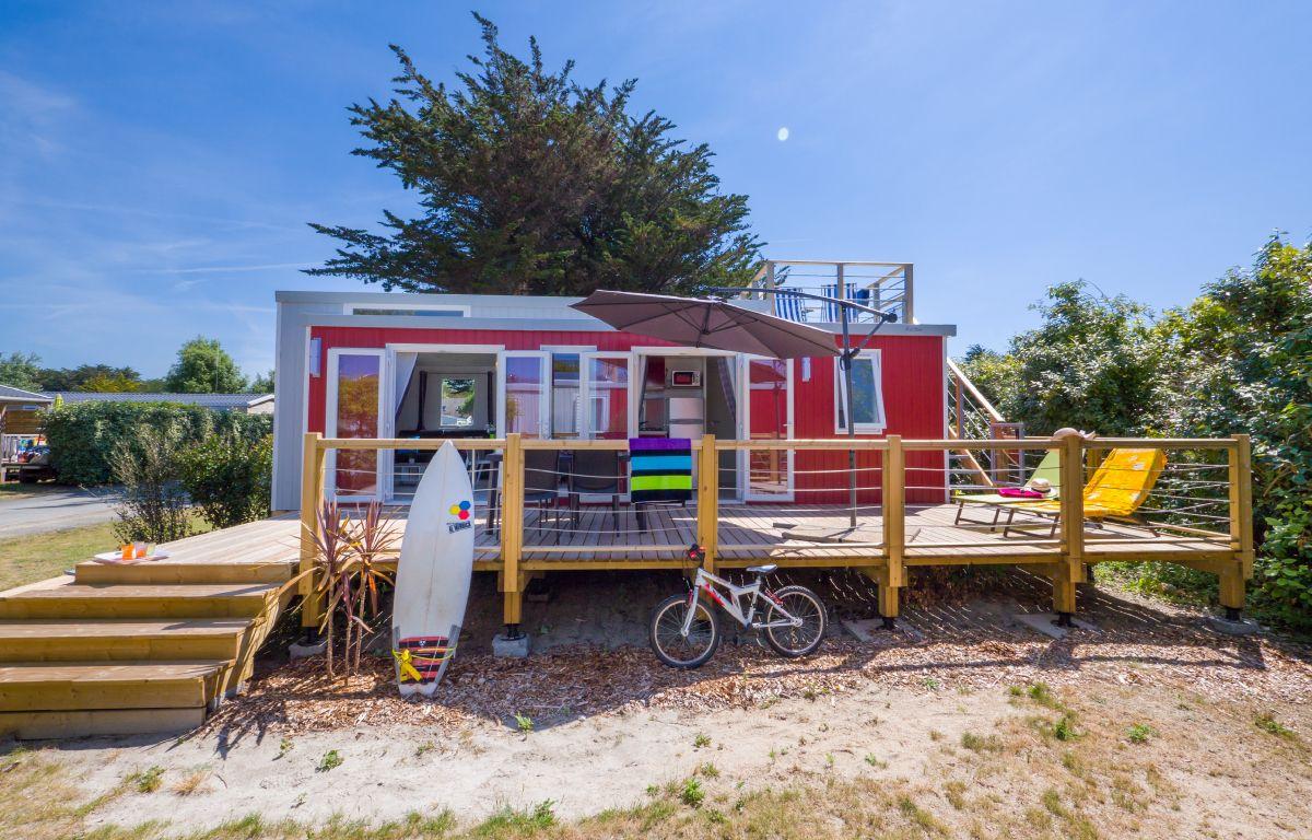 Campin de la plage - lodge panoramique premium 4 personnes