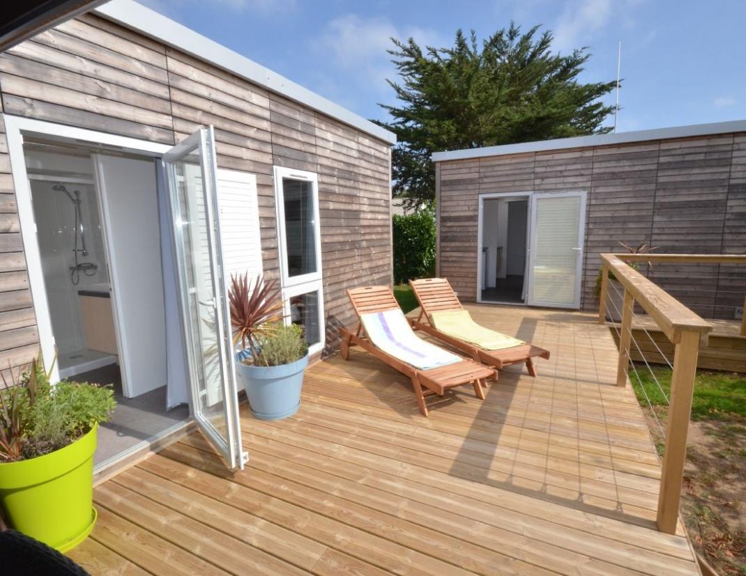Cottage Keywest 6 personnes deux lodges - terrasse solarium