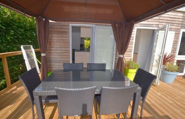 Cottage Keywest 6 personnes deux lodges - salle à manger