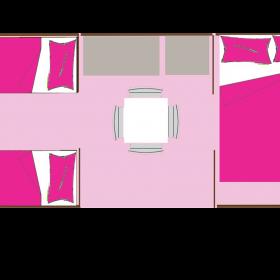 Coco sweet 4 personnes - 16 m² - plan intérieur