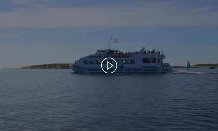 camping de la plage - vidéo des vedettes de l'odet aux îles Glénan