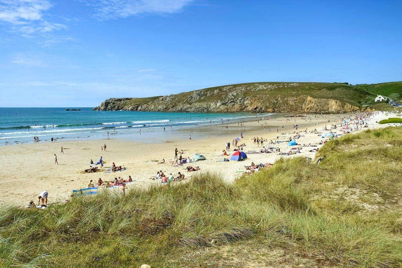 La plage de la Baie des Trépassés en Finistère